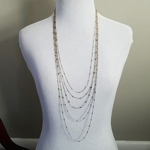 Loft Gold toned multistrand thin necklace